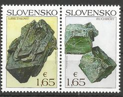 SK 2018-669-70  Nature Protection: Slovak Minerals SLOVAKIA, 1 X 2v, MNH - Mineralien