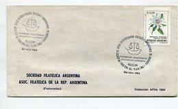 SOBRE OBLITERES VI CONGRESO UNION IBEROAMERICANA COLEGIOS Y AGRUPACIONES DE ABOGADOS 1984 ARGENTINA SPC -LILHU - Profesiones