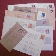 Lot 10 Blason Sur Enveloppe Ou CP 2 Bandes Journaux Voir Photos Pour Détails - Marcophilie (Lettres)
