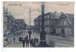 CPA-1906-ALLEMAGNE-SCHÖNBERG-.I.M.-KRIEGERDENKMAL-ANIMEE-PERSONNAGES- - Autres