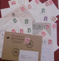 Lot Sabine De Gandon Sur Enveloppes Et CP - Postmark Collection (Covers)