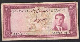 100 РИАЛОВ ИРАН Шах ПЕХЛЕВИ 1951г - Iran