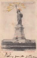 Statue Of Liberty, Torch Lights Up, C1900s Vintage Hold To Light Postcard - Contre La Lumière