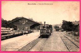 Bonnétable - Gare Des Chemins De Fer - Locomotive - Train à Vapeur - Quai Marchandise - Animée - Phototypie J. BOUVERRET - Bonnetable