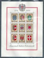 """Blockausgabe  """"1000 Jahre Oesterreich""""            1976 - 1945-.... 2a Repubblica"""