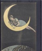 Femme - Lune - Moon - Mond - TBE Précurseur - Fantaisies