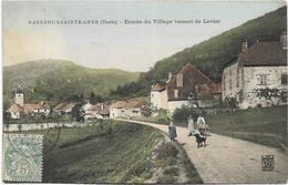 25 - NANS-sous-SAINTE-ANNE (Doubs) - Entrée Du Village Venant De Levier. Animée, Circulé En 1907. - Altri Comuni