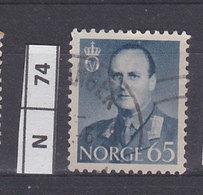 NORVEGIA  1958Re Olav V 65 Usato - Norvegia