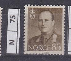 NORVEGIA  1958Re Olav V 85 Usato - Norvegia
