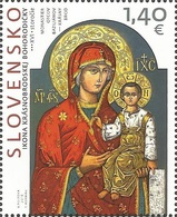 SK 2018-671  ART: The Icon Of Krásny Brod, The Mother Of God  SLOVAKIA, 1 X 1v, MNH - Christentum