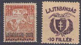 UNGHERIA - Lajtabansag - 1913 - Lotto Di 2 Valori Nuovi MH, Come Da Immagine. - Emissioni Locali