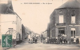 PONT SUR SAMBRE - Rue De Quarte - Attelage - Frankreich