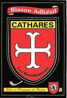 CARTE -AUTOCOLLANT-ECUSSON ADHESIF-KROMA-CATHARES-TBE - Autocollants