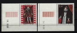 MONACO - Mi-Nr. 914 - 915 Linke, Untere Eckrandstücke Gemälde Aus Dem Fürstlichen Palast Postfrisch - Ungebraucht
