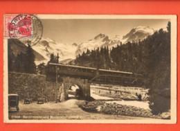 LOM-22 Berninabahn Morteratschgletscher. Gelaufen 1913 Nach Paris. - GR Grisons