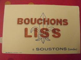 Buvard Bouchons Liss à Soustons (Landes) - Buvards, Protège-cahiers Illustrés