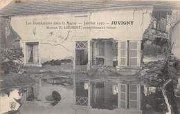 JUVIGNY - Maison E. LILBERT, Complètement Ruinée - Inondations Janvier 1910 - France