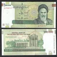 100000 РИАЛОВ ИРАН ШАХ ПЕХЛЕВИ   2010г UNC - Iran