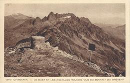 74 CHAMONIX MONT BLANC SOMMET DU BREVENT TABLE D ORIENTATION DU DU BUET ET DES AIGUILLES ROUGES  BRAUN 12115 - Chamonix-Mont-Blanc