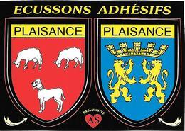 CARTE -AUTOCOLLANT-ECUSSON ADHESIF-Edit AS De COEUR-32-PLAISANCE-TBE - Autocollants