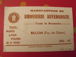 Buvard Manufacture De Brosserie Auvergnate. Billom (puy De Dôme) - Produits Ménagers