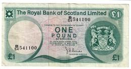Royal Bank Of Scotland 1 Pound 02/05/1978 - Scozia