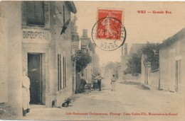 H219 - 51 - WEZ - Marne - Grande Rue - Café Restaurant Dufourneaux - Other Municipalities