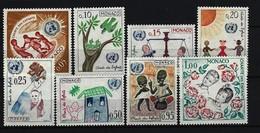 MONACO - Mi-Nr. 718 - 725 - 4. Jahrestag Der UNO-Deklaration über Die Rechte Des Kindes Postfrisch - Ungebraucht