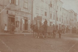 Unknown City, Germany? Bohemia? Wagon And Mailmen Postal Carriers, Mail Theme, C1900s Vintage Real Photo Postcard - Postal Services