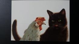 CHAT ET POULE - Cats