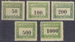 UNGHERIA - Lajtabansag - Serie Completa Di 5 Valori Nuovi MH Servizio Michel 1/5, Come Da Immagine. - Local Post Stamps