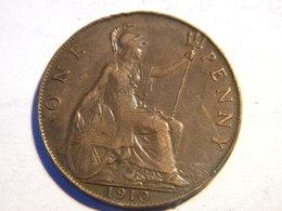 GRANDE BRETAGNE - ONE PENNY 1910. - 1902-1971 : Monnaies Post-Victoriennes