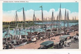 Florida Tarpon Springs Sponge Boats At The Dock - United States