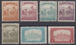 UNGHERIA - 1916/1917 - Lotto Di 7 Valori Nuovi MNH: Yvert 164, 165, 168, 170, 174, 176 E 178. - Ungheria