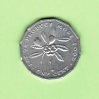 JAMAICA   1 CENT 1975  (KM # 64) #5196 - Jamaique