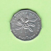 JAMAICA   1 CENT 1975  (KM # 64) #5196 - Jamaica