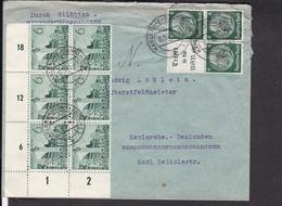 Deutsches Reich Zusammendruck 1940 Stempel Daxlanden , Eckrand - Deutschland
