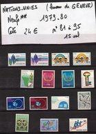 ONU--NATIONS-UNIES--bureau De Genève--années 1979-80  Complètes-NEUFS ** N°81 à 95 --cote 24€.......à Saisir - ONU