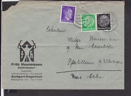 Deutsches Reich Zusammendruck 1942 Stempel  Stuttgart Degerloch - Briefe U. Dokumente