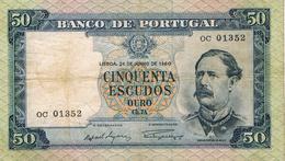 50 ESCUDOS FONTES PEREIRA DE MELLO - CHAPA 7A - DE 24 DE JULHO DE 1960-BANCO DE PORTUGAL - Portogallo