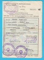YUGOSLAVIAN RAILWAYS - Legitimation For Discount On Tickets When Leaving For Vacation (1960.) Chemins De Fer Bundesbahn - Abonnements Hebdomadaires & Mensuels