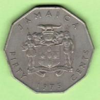 JAMAICA   50 CENTS 1975  (KM # 65) #5201 - Jamaique
