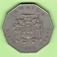 JAMAICA   50 CENTS 1975  (KM # 65) #5201 - Jamaica