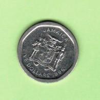 JAMAICA   $5.00 DOLLARS 1996  (KM # 163) #5203 - Jamaique