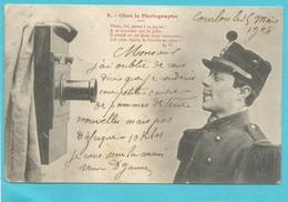 CPA Bergeret - Pitou Chez Le Photographe Carte 2 Le Soldat - 1904 écrite Voyagée - Hommes