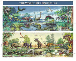 US 1996 Prehistoric Animals The World Of Dinosaurs Sheets Scott # 3136,VF MNH** - Stamps