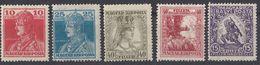 UNGHERIA - 1916/1917 - Lotto Di 5 Valori Nuovi MNH, MH O Senza Gomma: Yvert 160, 161, 187, 190 E 191. - Ungheria