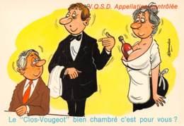 """CPM - IVROGNES - V.Q.S.D. Appellation Contrôlée - Le """"Clos-Vougeot"""" Bien Chambré C'est Pour Vous ? - Humour"""