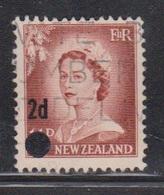 NEW ZEALAND Scott # 319 Used - QEII Definitive With Surcharge - New Zealand