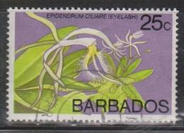 BARBADOS Scott # 405 Used - Flower - Eyelash - Barbades (1966-...)